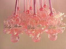 """2-1/2"""" Pink Pacifier Necklaces Girl Baby Shower Games Prizes Favors Decorations"""
