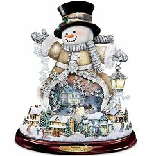 THOMAS KINKADE MUSICAL LIGHTED SNOWMAN CHRISTMAS HOLIDAY FIGURINE DECOR NEW