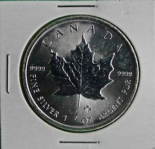 2014 Canadian Maple Leaf Silver $5 Canada Coin BU Royal Canadian Mint #R