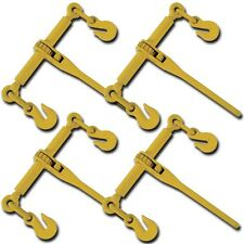 "Set 4 PC Ratchet Load Binder Rigger 5/16"" 3/8"" Binders Chain Tie Down Riggi"