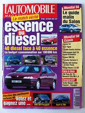 L'AUTOMOBILE du 10/1994; Essence ou Diesel ?/ Mondial 94/ TD 806 espace-voyageur