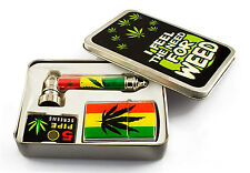 Smoking Pipes, Lighter & Screen Kit As Smoking Accessories Filter Rasta Jamaica
