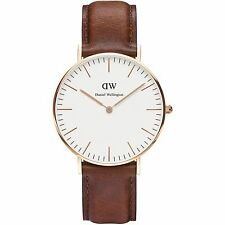 NEW DANIEL WELLINGTON LADIES WATCH CLASSIC ST MAWES ROSE GOLD LEATHER 0507DW
