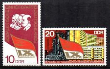 Germany / DDR - 1976 Socialist party congress Mi. 2123-24 MNH