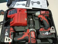 MILWAUKEE 18V Li Ion Cordless Impact Driver e Drill Twin Set 4AMP