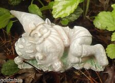 latex w backup lying gnome plaster concrete mold casting garden rubber mould