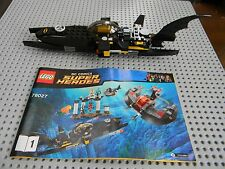 Lego Super Heros - Bat Sub with Instruction book  - No Figs - Split from 76027