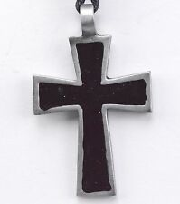 "Necklace Pewter Celtic Cross Adjustable Cord 12-24"" Women Jewelry Saint Lucia"