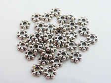 200 x Tibetan Silver Style Daisy Flower Spacer Beads 4mm Antique Silver LF