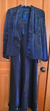 Mother of the Bride Alex Evening Dress w/ Jacket in a Rich Royal Blue  Size 10