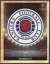 PANINI UEFA CHAMPIONS LEAGUE 2009-10- #430-RANGERS TEAM BADGE-SILVER FOIL
