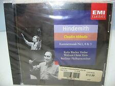 Hindemith KAMMERMUSIK Nrs. 1, 4 & 5, Berlin Blacher/Christ, Phil/Abbado EMI NEW