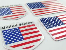 Set America Flag+Shield USA Aluminum Emblem Gas Tank/Fairing Stickers for HONDA