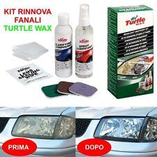 TURTLE WAX kit lucida fari plastica opacizzati camper moto auto rinnova faro TTW