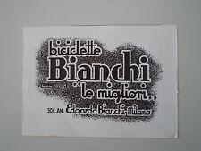 advertising Pubblicità 1940 BICICLETTE BIANCHI