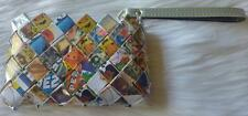 OLLIN Pez Candy Wrapper and Advertising Sheets, Coin Purse Wristlet Wallet