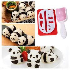 Panda Form Punch Sushi Reis Kugel Gussform Onigiri Nori DIY Hersteller Bento
