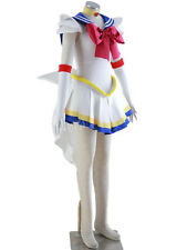 SAILOR MOON TSUKINO USAGI COSPLAY COSTUME TAGLIA L UK 10 con una parrucca Halloween Gallina