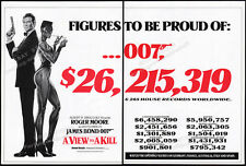 A VIEW TO A KILL__Orig. 1985 Trade AD promo_poster__James Bond 007__ROGER MOORE