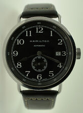 Hamilton Khaki Navy Pioneer Automatic Date Watch H784150 H78415733 Black Leather