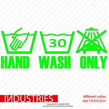 Hand Wash Only - Version 2 - Sticker Aufkleber Bombing JDM Fun Shocker Cult  Car