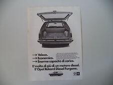 advertising Pubblicità 1980 OPEL REKORD DIESEL FURGONE