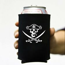 Jolly Roger (Style #2) Beer Can Koozie Cooler Cozy Pirate Skull Swords Ale Grog