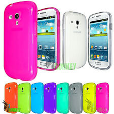 CUSTODIA CASE COVER TPU PER SAMSUNG GALAXY S3 MINI I8190 FLESSIBILE + PELLICOLA