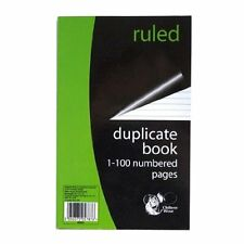 Ruled Duplicate Invoice Book 1-100 Numbered Pages Includes Carbon Sheet