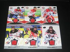CHARLINE LABONTE autographed '16 Upper Deck TEAM CANADA women JERSEY card #154