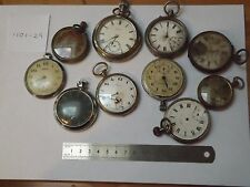 LOT OF 10 GOOD ANTIQUE GENTS  POCKET WATCHES - INCOMPLETE