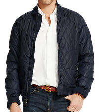 new Polo Ralph Lauren quilted bomber jacket military navy nylon mens M MSRP $395