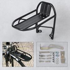 Black Aluminum Alloy Bike Bicycle Front Rack Luggage Shelf Panniers Bracket New