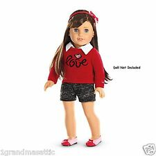American Girl Grace's City Outfit GOTY 2015 Shorts Sweater Headband Shoes LE NIB