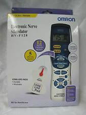 OMRON HVF 128 Electronic Nerve Stimulator Pulse TENS Massager with LCD Screen