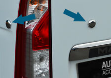 CHROME REAR TAILGATE DOOR PLUG COVERS FOR VAUXHALL MOVANO 2010+