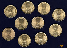 INDIA 2014 5 RUPEE LOT OF 10 COIN JAWAHARLAL NEHRU 125th BIRTH UNC WHOLESALE