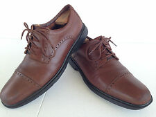 Clarks Unstructured Un.Tudor Oxfords Mens 10.5 Brown Leather Cap Toe Brogue