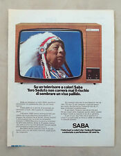 E239 - Advertising Pubblicità - 1976 - SABA TELEVISORE A COLORE