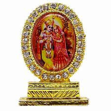 Lord Krishna Radha Portrait Gift Car Dashboard Table Decor Religious Deity 0264
