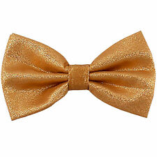 New Men's Pre tied bow tie Only Glitter Bowtie Gold wedding party formal
