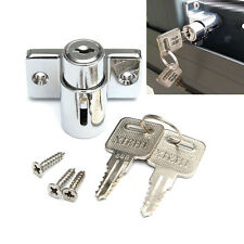 Door Window Bolt Catch Push Lock Aluminum Sliding Patio Sash Security Key Screw
