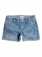 Roxy Kids Ribbit Ears Denim Vintage Blue Shorts Sz 5 ERLDS03018