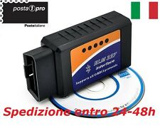 OBD-II 2 ELM 327 2017 AUTO MOTO DIAGNOSI RESET GOLF BMW FIAT Android e Bluetooth