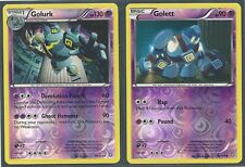 RARE GOLURK #59 & GOLETT #50- DRAGONS EXALTED Pokemon Cards- REV HOLO MINT