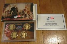 2008 S PRESIDENTIAL DOLLAR PROOF SET US Mint W Box COA 08 President Dollar