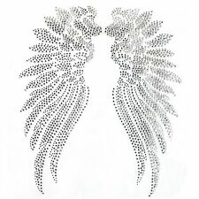Rhinestone Iron On Transfer Hot fix Motif Angel Wings 2 deco Fashion Design