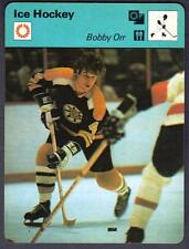 Bobby Orr 6 1/4 x 4 3/4 card with a short story on the back of the card.