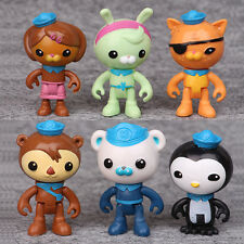 6PCS/pack Octonauts PVC Figures Barnacles Peso Kwazii Dashi Tweak Toys Kids Gift