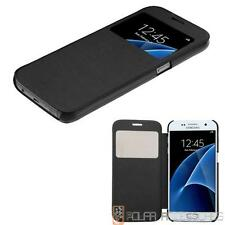 For SAMSUNG Galaxy S7 Black Silk Texture/Frosted Tray Case Pouch w/Opening